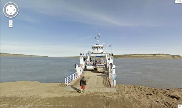 Ferry Ramp, Tsiigehtchic, Northwest Territories, Canada