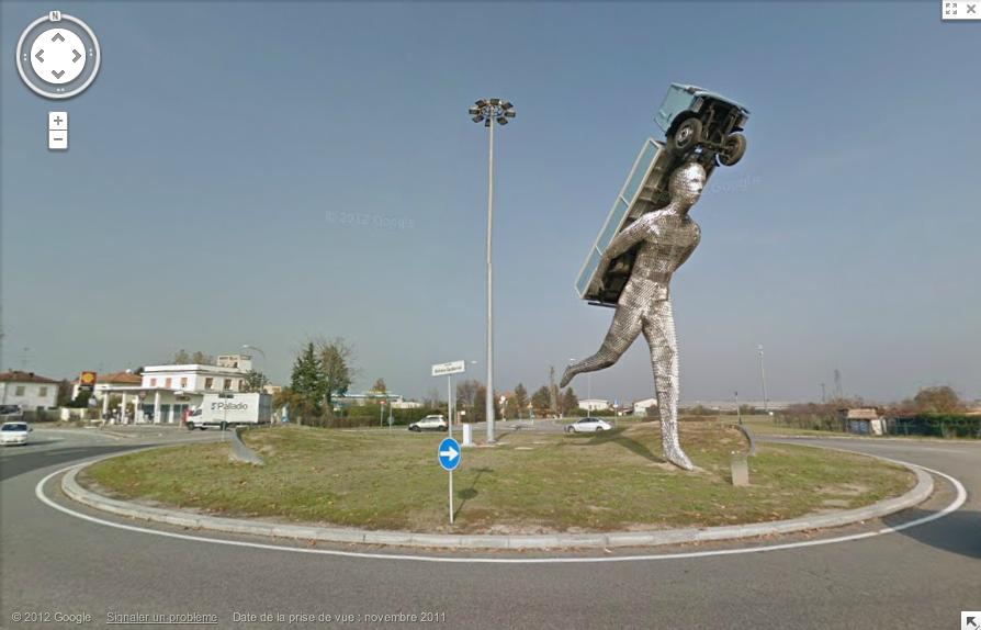 Via Rigosa, Bologna, Emilia-romagna, Italie rond point